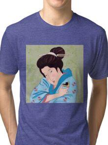 Mrs Hokusai Tries An Australian Delicacy Tri-blend T-Shirt