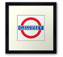London Underground Gallifrey Framed Print