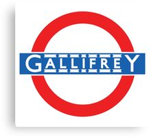 London Underground Gallifrey Canvas Print