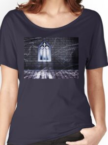 Room with Gothic Window 2 Women's Relaxed Fit T-Shirt
