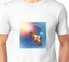 Bird in the rays of light Unisex T-Shirt