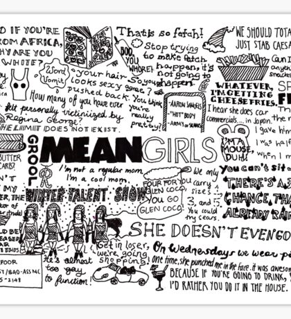 A Visual Representation of Mean Girls Sticker