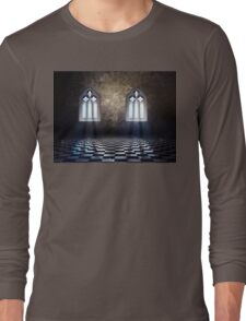 Room with Gothic Window 3 Long Sleeve T-Shirt