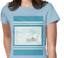 Beach house style 1 - Fisherman's boat Womens Fitted T-Shirt