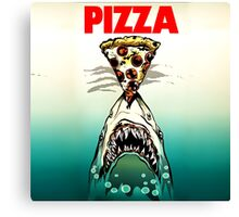 Pizza Shark Jaws Parody Canvas Print