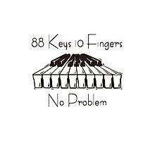 88keys 10fingers Photographic Print