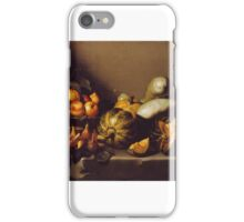 Still Life with Fruit on a Stone Ledge iPhone Case/Skin