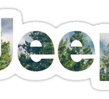 Outdoor Jeep Logo  Sticker