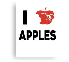 I love apples Canvas Print