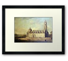 The Cathedral at Havana, during the British occupation, August–September  Framed Print