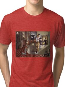 Jackdaw: Escape by Mila May Tri-blend T-Shirt