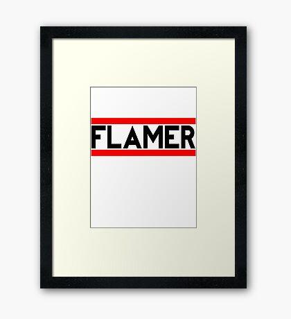 Flamer Framed Print