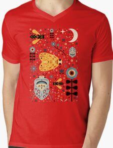 Midnight Bugs Mens V-Neck T-Shirt