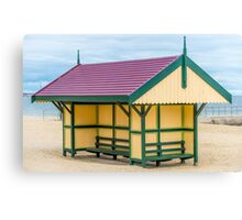 Victoriana Beach Hut Canvas Print