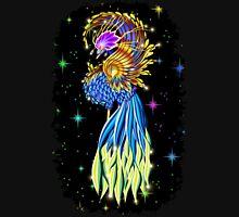 Blue and Golden Paradise Bird Unisex T-Shirt