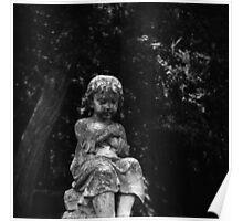 Cemetery Child - Vintage Lubitel 166 Photograph Poster