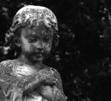 Cemetery Child - Vintage Lubitel 166 Photograph Sticker