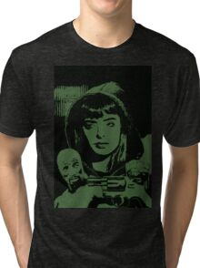 Jessica Jones in action Tri-blend T-Shirt