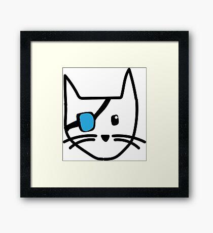 Pirate Kitty Framed Print