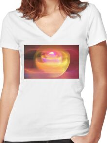 Rose Circles Women's Fitted V-Neck T-Shirt