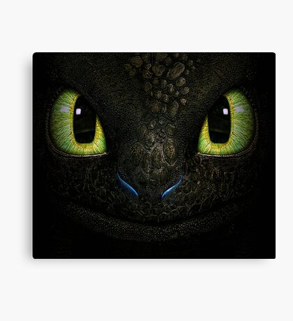 Big Toothless From How To Train Your Dragon Canvas Print