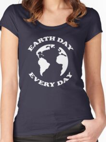 Earth Day Every Day Women's Fitted Scoop T-Shirt