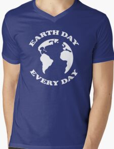 Earth Day Every Day Mens V-Neck T-Shirt