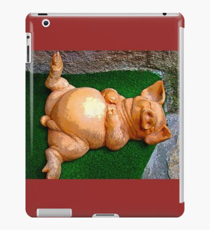 Happier Than A Pig In Grasse iPad Case/Skin