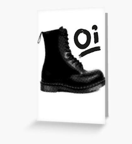 Give em the boot! Greeting Card