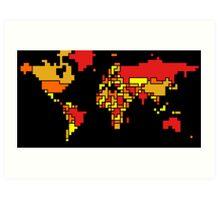 World Map (Autumn Colors) Art Print