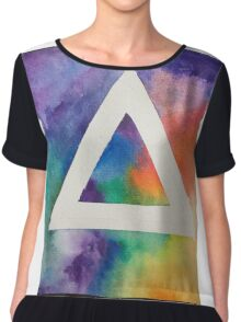 Hipster triangle in space. Chiffon Top
