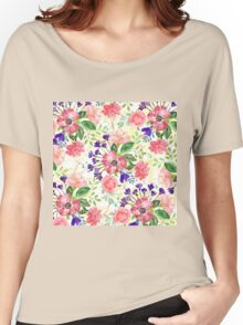 Watercolor garden flowers Women's Relaxed Fit T-Shirt
