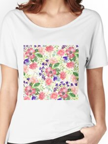 Watercolor garden flowers Women's Relaxed Fit T-Shirt