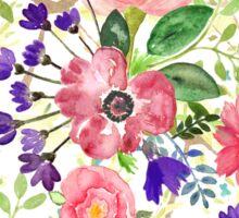 Watercolor garden flowers Sticker
