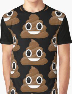 Happy Poop Emoticon - Poop Emoji  Graphic T-Shirt