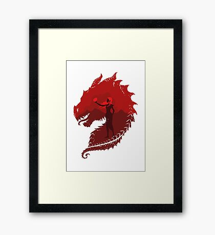 Mother of Dragons (Light) Framed Print