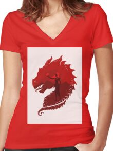 Mother of Dragons (Light) Women's Fitted V-Neck T-Shirt