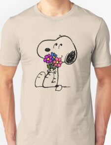 Snoopy Springtime Unisex T-Shirt