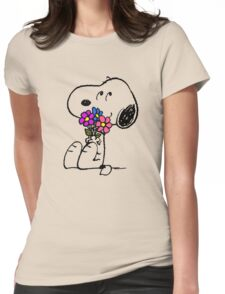 Snoopy Springtime Womens Fitted T-Shirt