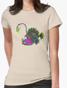 Electric Angler Fish Womens Fitted T-Shirt