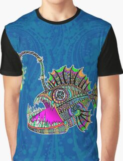 Electric Angler Fish Graphic T-Shirt