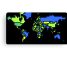 World Map (Cool Colors) Canvas Print