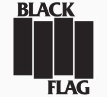 BLACK FLAG on WHITE by ghostmeat