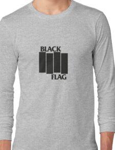 BLACK FLAG on WHITE Long Sleeve T-Shirt