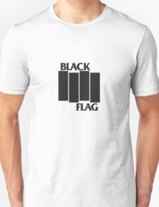 BLACK FLAG on WHITE Unisex T-Shirt