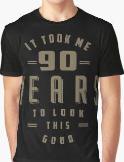 Funny 90th Birthday Graphic T-Shirt