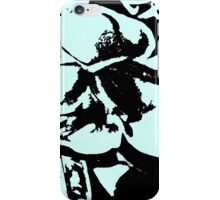 Vintage retro tropical floral turquoise blues pattern     iPhone Case/Skin