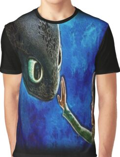 Hiccup And Toothless The Black Night Fury Dragon Graphic T-Shirt