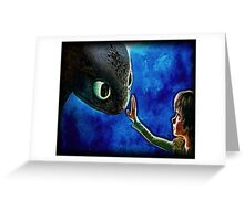 Hiccup And Toothless The Black Night Fury Dragon Greeting Card