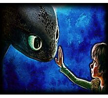 Hiccup And Toothless The Black Night Fury Dragon Photographic Print
